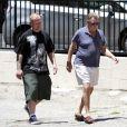 Ryan O'Neal et son fils Redmond, dont la maman est Farrah Fawcett, à Los Angeles le 13 mai 2013.