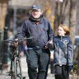 Philip Seymour Hoffman et son fils Cooper à New York le 20 mars 2013