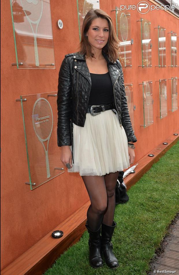 Laury Thilleman à Roland Garros le 31 mai 2013.