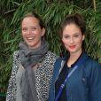 Melanie Bernier et Marie Guillardà Roland Garros le 31 mai 2013.