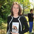 """Valérie Fignonlors de l'inauguration du sentier """"Laurent Fignon"""" dans le bois de Vincennes le 5 juin 2013."""