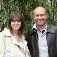 Laurent Fignon et sa femme Valérie à Roland-Garros le 29 mai 2010.