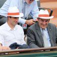Tony Estanguet et Jean Gachassin à Roland-Garros lors du 12e jour des Internationaux de France le 6 juin 2013