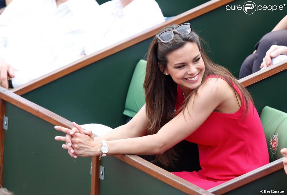Marine Lorphelin, Miss France 2013 à Roland-Garros lors du 12e jour des Internationaux de France le 6 juin 2013