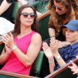 Marine Lorphelin, Miss France 2013 et Sylvie Tellier à Roland-Garros lors du 12e jour des Internationaux de France le 6 juin 2013