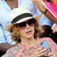 Pascale Arbillot à Roland-Garros lors du 12e jour des Internationaux de France le 6 juin 2013
