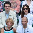 Elsa Zylberstein à Roland-Garros lors du 12e jour des Internationaux de France le 6 juin 2013