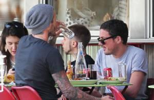 David Beckham : Un déjeuner très foot avec son meilleur ami, loin de Victoria