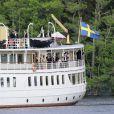 Mariage de la princesse Madeleine de Suède et de Chris O'Neill, le 8 juin 2013 à Stockholm. Le SS Stockholm a chargé les jeunes mariés et leurs invités d'honneur aux terrasses d'Evert Taubes, à Riddarholmen non loin du palais royal, pour les mener à Drotnningholm, où se tenait la fête du mariage.