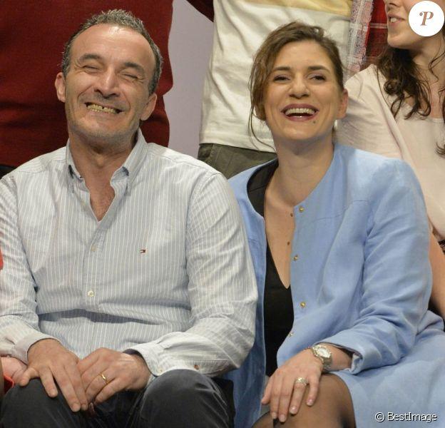 """Pascal Sellem et Emmanuelle Galabru (fille de Michel Galabru) - Filage de la pièce """"Faites comme chez Vous !!!"""" au Théâtre Daunou à Paris le 10 juin 2013."""