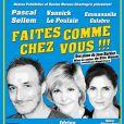 """Affiche de la pièce de théâtre """"Faites comme chez Vous !!!"""" avec Pascal Sellem et Emmanuelle Galabru (fille de Michel Galabru) au Théâtre Daunou à Paris à partir du 12 juin 2013."""