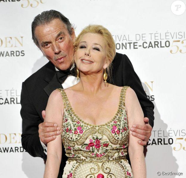 Eric Braeden et Melody Thomas Scott à la cérémonie de remises de récompenses du 53e Festival de Télévision de Monte-Carlo au Grimaldi Forum, le 13 juin 2013.