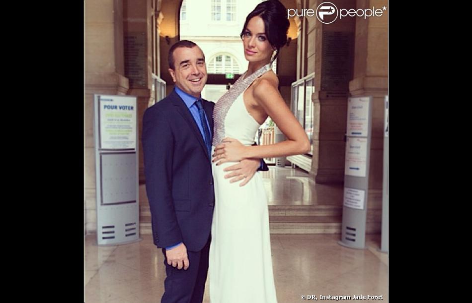 Cliché du mariage de Jade Foret et Arnaud Lagardère, vendredi 24 mai 2013 à Paris   ❤ 24 mai 2013 ❤ #love #wedding #bestday #married #husband #wife #happiness #joy #love #loveforever #jadelagardere #arnaudlagardere