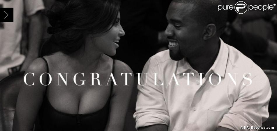 Beyoncé Knowles a posté un message de félicitations à Kim Kardashian et Kanye West pour la naissance de leur fille. Quelques mots accompagnés de cette belle photo.