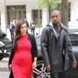 Kanye West et Kim Kardashian à Paris fin avril 2013