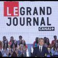 Michel Denisot lors de l'émission Le Grand Journal sur Canal+ le 11 juin 2012