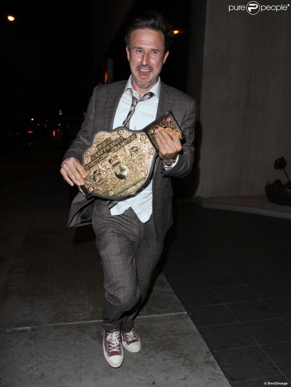 David Arquette à la sortie d'un club à Hollywood, le 9 avril 2013.