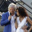 Patrick Sébastien et Aïda Touihri,lors de la fête de la musique sur France 2 eten direct de Marseillele 21 juin 2013.