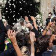 Le mariage religieux de Thomas Langmann et Céline Bosquet à Porto-Vecchio en Corse le 22 juin 2013 : vive les mariés !