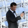Exclusif - Romain Zago prend sa femme Joanna Krupa en photo lors de leur mariage à l'hôtel Park Hyatt Aviara. Carlsbad, le 13 juin 2013.