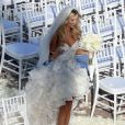 Exclusif - Joanna Krupa, ravissante dans sa robe Chagoury Couture lors de son mariage avec Romain Zago à l'hôtel Park Hyatt Aviara. Carlsbad, le 13 juin 2013.