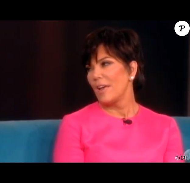 Kris Jenner dans l'émission The View mardi 25 juin.