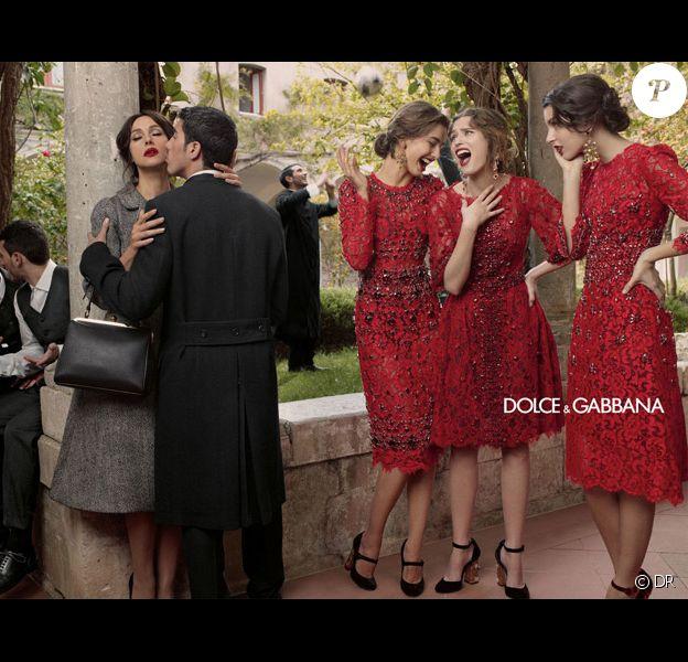 Campagne automne-hiver 2013 de Dolce & Gabbana avec Monica Bellucci, Kate King, Bianca Balti et Andreea Diaconu. Photo par Domenico Dolce.