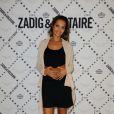 Exclusif - Karine Le Marchand assiste à l'inauguration de la boutique Zadig & Voltaire au Rond Point Champs-Élysées Marcel Dassault. Paris, le 1er juillet 2013.