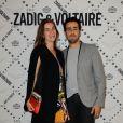 Sonia Sieff et Jonathan Cohen à la soirée Zadig & Voltaire à Paris le 1er juillet 2013