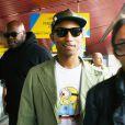 Pharrell Williams arrive à l'aéroport de Tegel à Berlin. Le 1er juillet 2013.