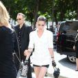 Kristen Stewart arrive au Grand Palais pour assister au défilé Chanel haute couture automne-hiver 2013 au Grand Palais. Paris, le 2 juillet 2013.