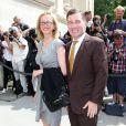 Charles H. Rivkin, ambassadeur des États-Unis, et sa femme Susan M. Tolson arrivent au Grand Palais pour assister au défilé Chanel haute couture automne-hiver 2013 au Grand Palais. Paris, le 2 juillet 2013.