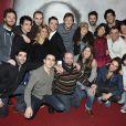 L'Atelier de Pierre Palmade (avec Pierre Palmade au centre) au théâtre La Gaîté Montparnasse, à Paris le 16 janvier 2012.