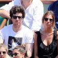 Alexandra Rosenfeld et son compagnon Jean Imbert lors de la demi-finale homme entre Rafael Nadal et Novak Djokovic, Jo-Wilfried Tsonga et David Ferrer aux Internationaux de tennis de Roland-Garros à Paris, le 7 juin 2013.