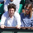 Alexandra Rosenfeld et Jean Imbert lors du quart de finale entre Jo-Wilfried Tsonga et Roger Federer (7-5, 6-3, 6-3) le 4 juin 2013 à Roland-Garros