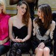 La styliste Tara Swennen, Kristen Stewart et Elsa Zylberstein assistent au défilé haute couture de Zuhair Murad à la Villa Montmorency. Paris, le 4 juillet 2013.