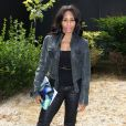 Mia Frye arrive à la Villa Montmorency pour assister au défilé haute couture de Zuhair Murad. Paris, le 4 juillet 2013.