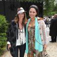 Emmanelle et Hermine de Clermont Tonnerre arrivent à la Villa Montmorency pour assister au défilé haute couture de Zuhair Murad. Paris, le 4 juillet 2013.