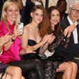 Tara Swennen, Kristen Stewart et Elsa Zylberstein assistent au défilé haute couture de Zuhair Murad à la Villa Montmorency. Paris, le 4 juillet 2013.