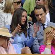 Pippa et James Middleton à Wimbledon, le 24 juin 2013.