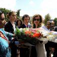 Le président français François Hollande et Valérie Trierweiler lors d'un voyage officiel en Tunisie le vendredi 5 juillet 2013.