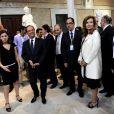 François Hollande et Valérie Trierweiler lors d'un voyage officiel en Tunisie le vendredi 5 juillet 2013.