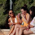 Tulisa Contostavlos au début de ses vacances à Ibiza, le 7 juillet 2013