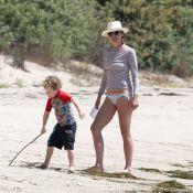Minnie Driver, à la plage avec son fils : 43 ans et toujours un corps de rêve !