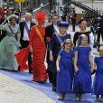 La princesse Mabel d'Orange-Nassau à Amsterdam fin avril 2013 pour l'intronisation du roi Willem-Alexander des Pays-Bas.
