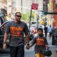 Martin Kirsten et Henry, en promenade à New York, avant de faire du vélo, le 8 juillet 2013.