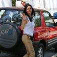 Courteney Cox sur le tournage du film Hello, I Must Be Going, à Los Angeles, le 9 juillet 2013.