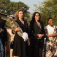 Valérie Trierweiler et Yamina Benguigui en visite à Bujumbura au Burundi le 9 juillet 2013.