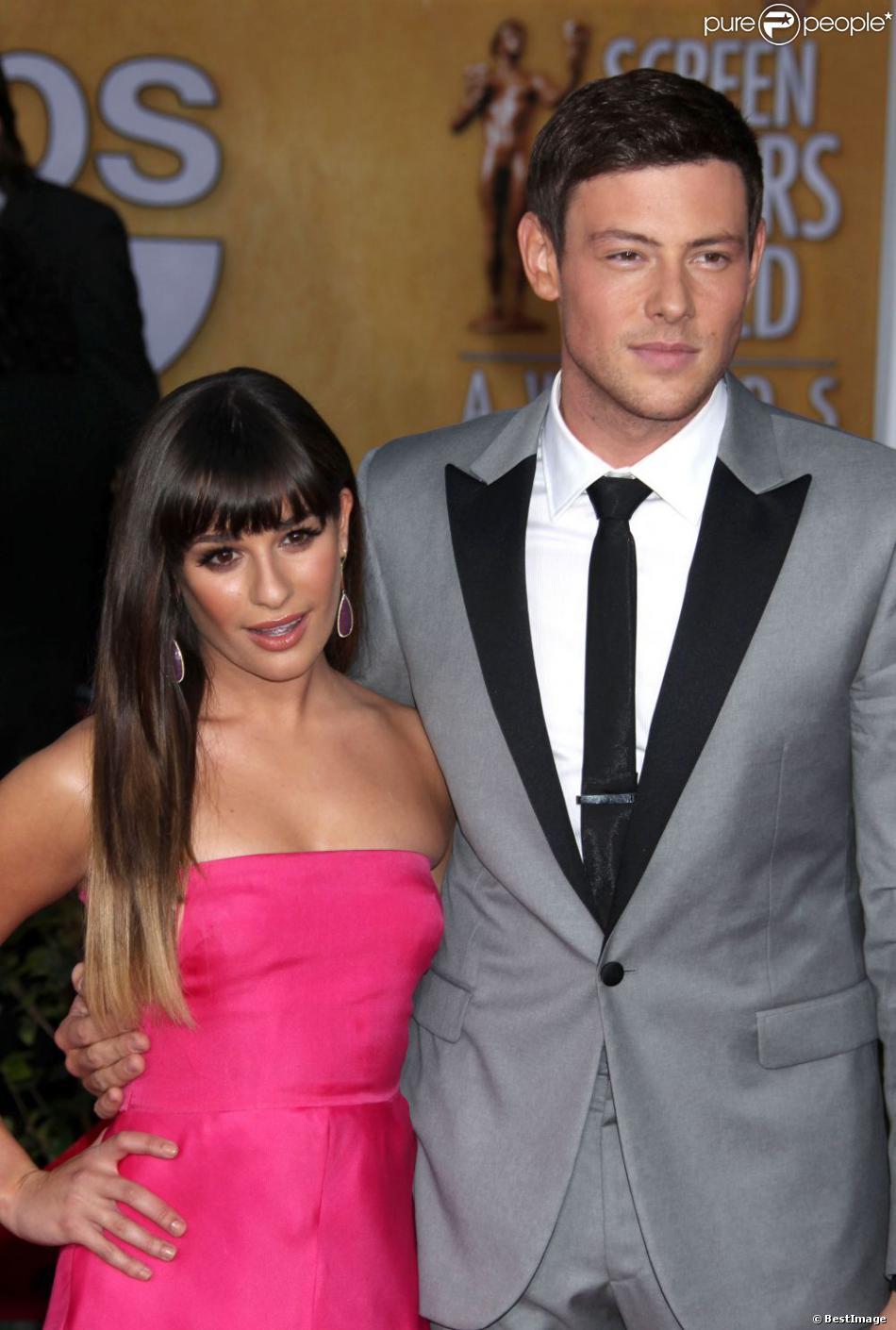 Cory Monteith et Lea Michele à la 19e cérémonie des SAG Awards à Los Angeles, le 27 janvier 2013.