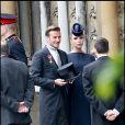 David et Victoria Beckham lors du mariage du prince William et de Kate Middleton à l'abbaye de Westminster, le 29 avril 2011